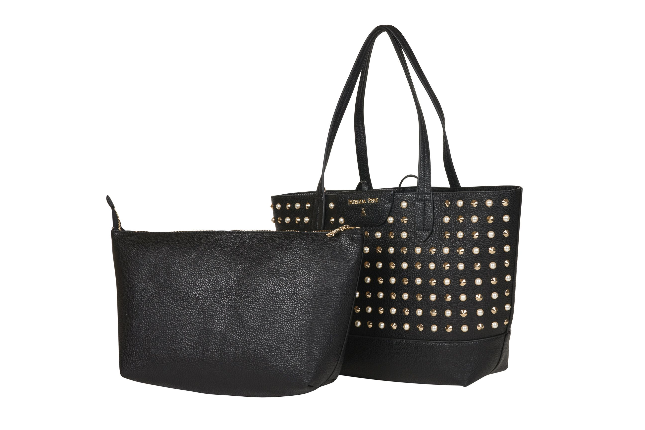 Patrizia Pepe BORSA SHOPPER NEW ROCK BLACK F1AA